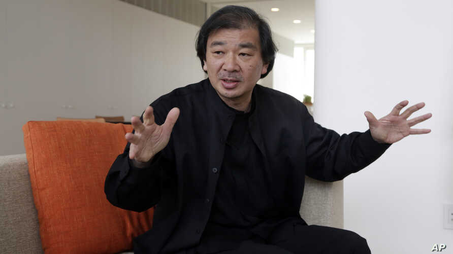 This March 20, 2014 photo shows Tokyo-born architect Shigeru Ban, 56, the recipient of the 2014 Pritzker Architecture Prize, in New York
