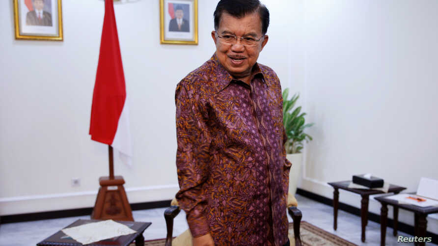 Indonesia's Vice President Jusuf Kalla looks on before an interview with Reuters in Jakarta, June 20, 2016.