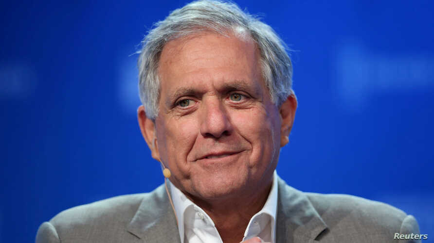 Leslie Moonves, Chairman and CEO, CBS Corporation, speaks during the Milken Institute Global Conference in Beverly Hills, California, May 3, 2017.