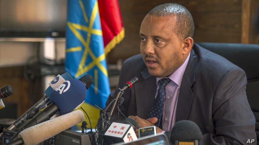 Ethiopia's Communication Affairs Minister Getachew Reda speaks to media about the current unrest in the country, in the capital Addis Ababa, Ethiopia, Oct. 10, 2016.