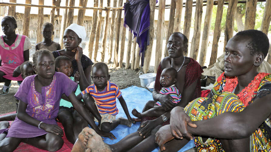 Recently displaced families who arrived five days before claiming that government troops attacked their towns, shelter in a run-down school in Akobo, near the Ethiopian border, in South Sudan, Jan. 19, 2018.