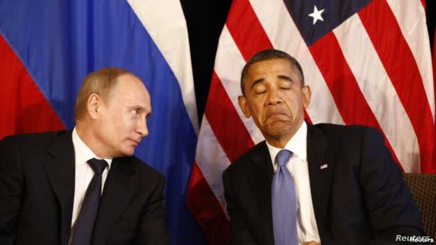 Russian President Vladimir Putin (left) and U.S. counterpart Barack Obama won't be sitting this close at the G20 summit. (file photo)