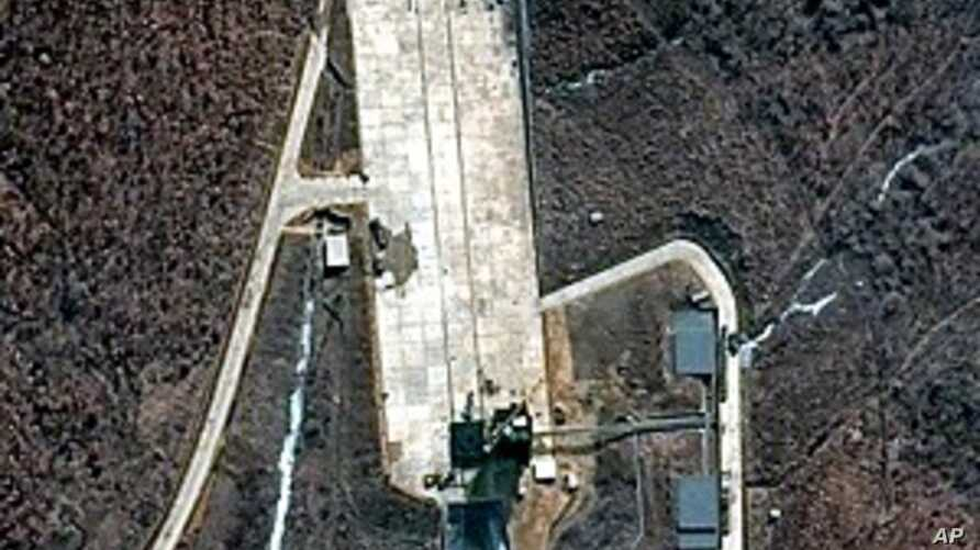 This March 28, 2012 satellite file image provided by DigitalGlobe shows North Korea's Tongchang-ri launch facility on the nation's western coast.