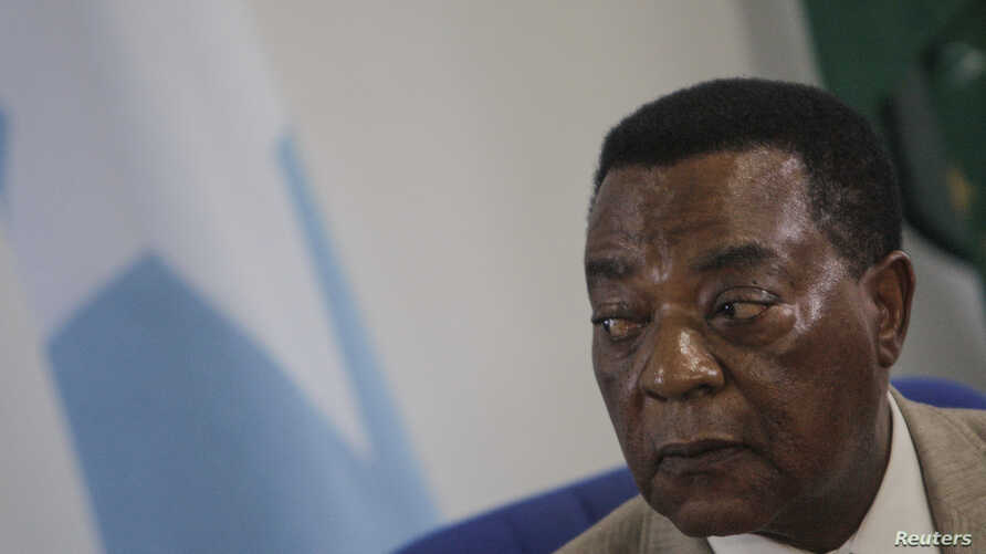 Augustine Mahiga, Special Representative of the United Nations Secretary General for Somalia and head of the U.N. Political Office in Somalia (UNPOS), looks on during a news conference in Mogadishu August 19, 2012, in this photograph released by the
