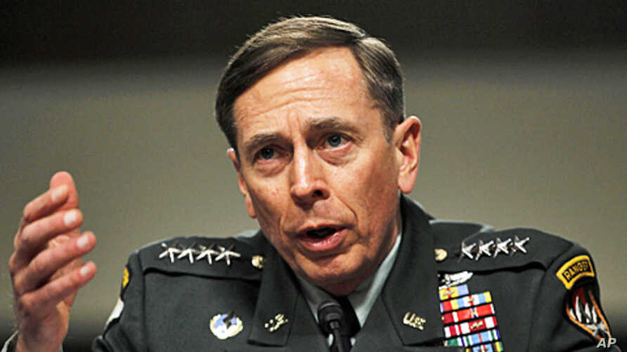 U.S. General David Petraeus testifies at a Senate Armed Services committee hearing on the situation in Afghanistan, on Capitol Hill in Washington, March 15, 2011