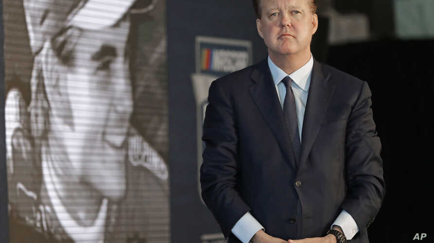FILE - NASCAR Chairman Brian France, pictured May 23, 2018, was arrested in New York's Hamptons for driving while intoxicated and criminal possession of oxycodone.