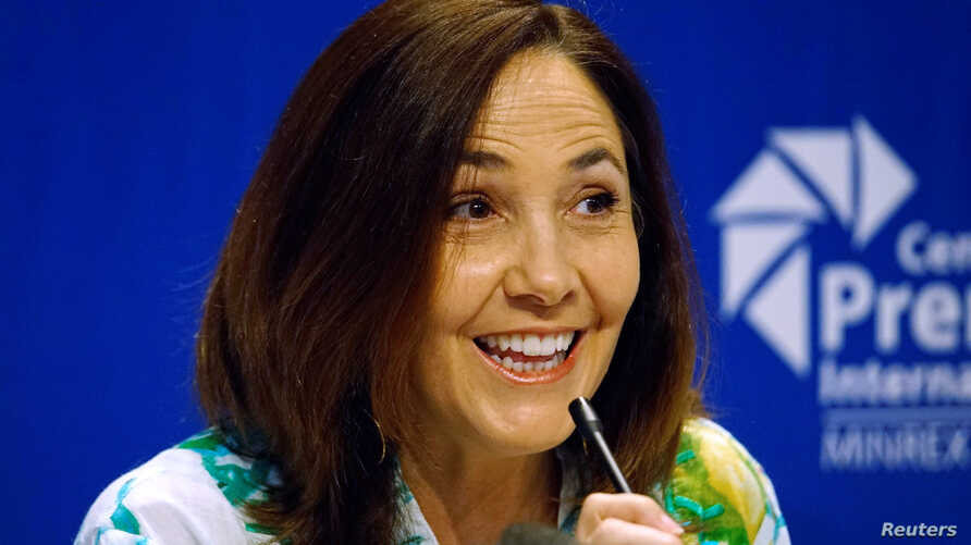 Mariela Castro, a lawmaker and director of the Cuban National Centre for Sex Education (CENESEX), National Assembly member and daughter of Cuba's President Raul Castro, speaks during a news conference in Havana, Cuba, May 3, 2017.