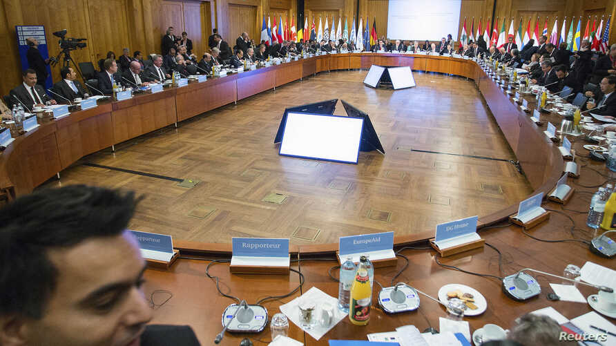 The 'Conference on the Syrian Refugee Situation - supporting stability in the region' starts in Berlin, Oct. 28, 2014.