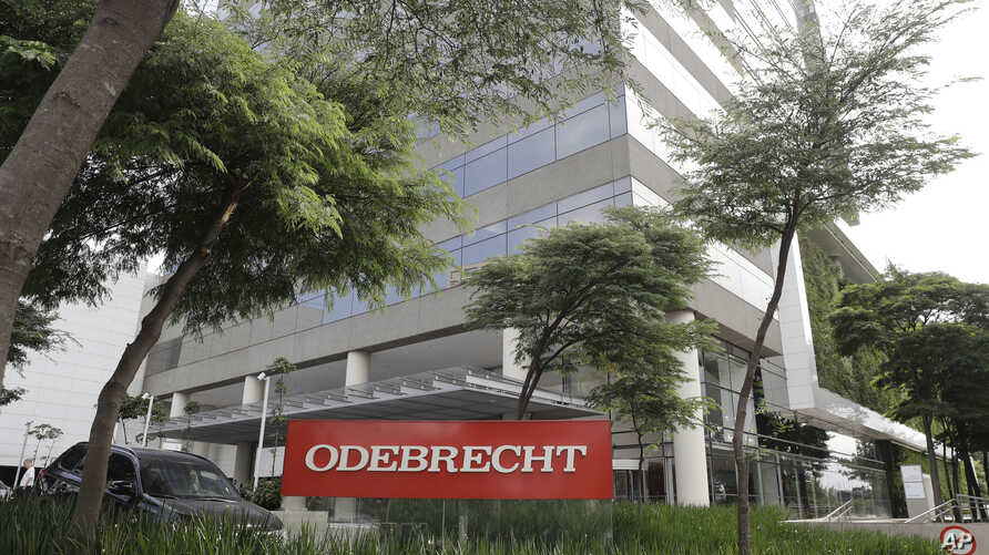 FILE - The Odebrecht headquarters are seen in Sao Paulo, Brazil, April 12, 2018.