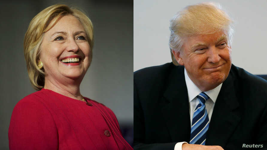 From left, Democratic presidential nominee Hillary Clinton in Philadelphia, and Republican nominee Donald Trump in New York City.