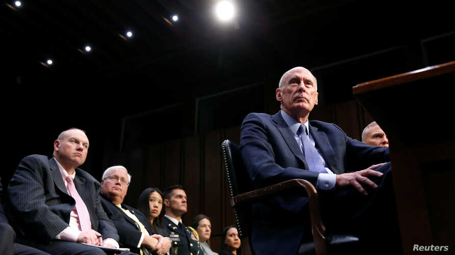 Director of National Intelligence Dan Coats testifies before the Senate Armed Services Committee on worldwide threats, on Capitol Hill in Washington, March 6, 2018.