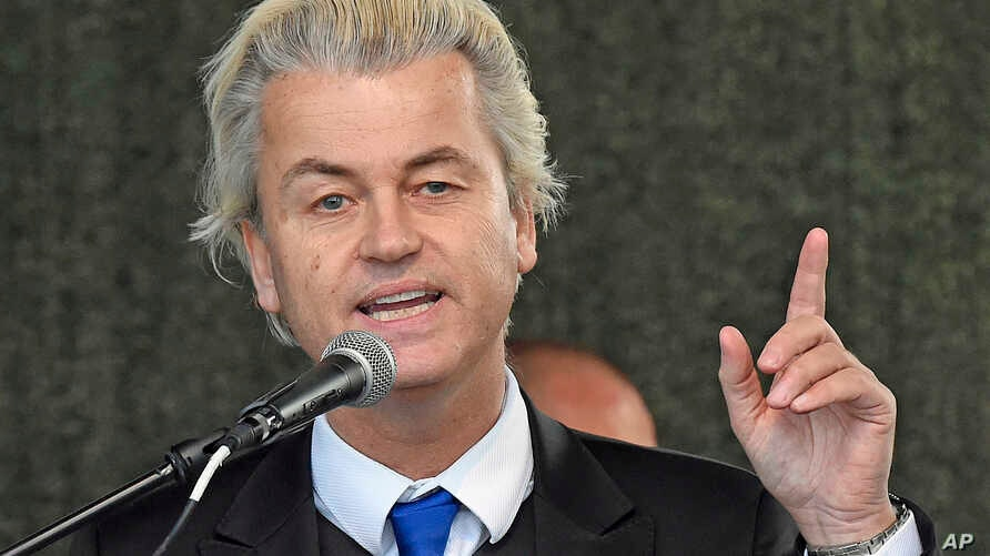 FILE - Far-right Dutch politician Geert Wilders.