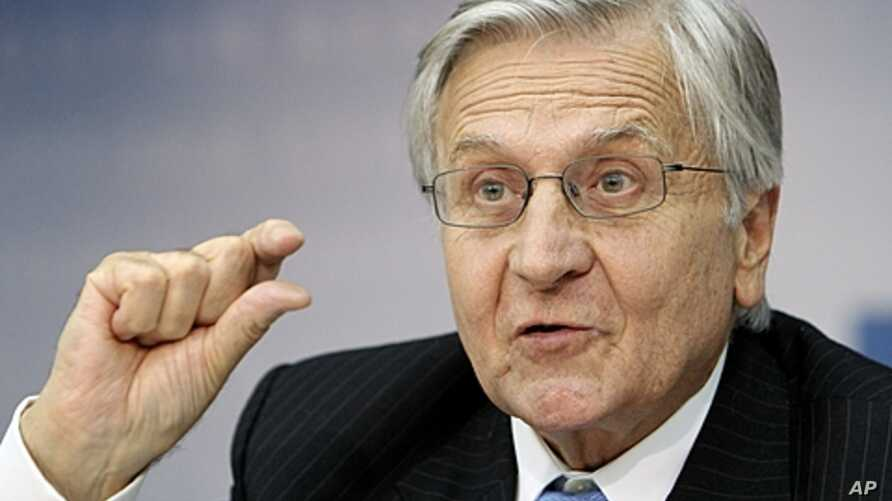 President of the European Central Bank Jean-Claude Trichet speaking during a press conference in Frankfurt,  September 8, 2011.