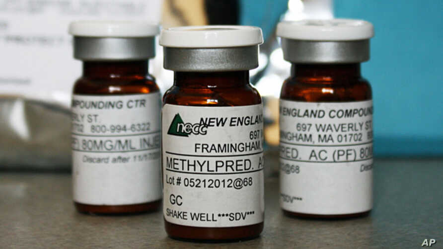 Vials of the injectable steroid product made by the New England Compounding Center, Oct 09, 2012.