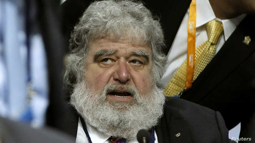 FILE - Former FIFA executive committee member Chuck Blazer is shown at a federation congress at the Hallenstadion in Zurich, June 1, 2011.
