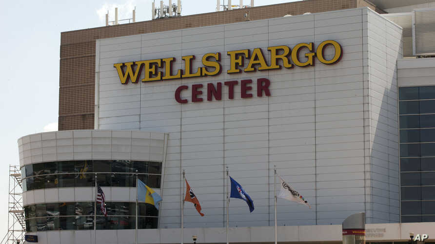 Shown is the Wells Fargo Center ahead of the the 2016 Democratic National Convention in Philadelphia, June 22, 2016. The Democratic National Convention will be held July 25-28.