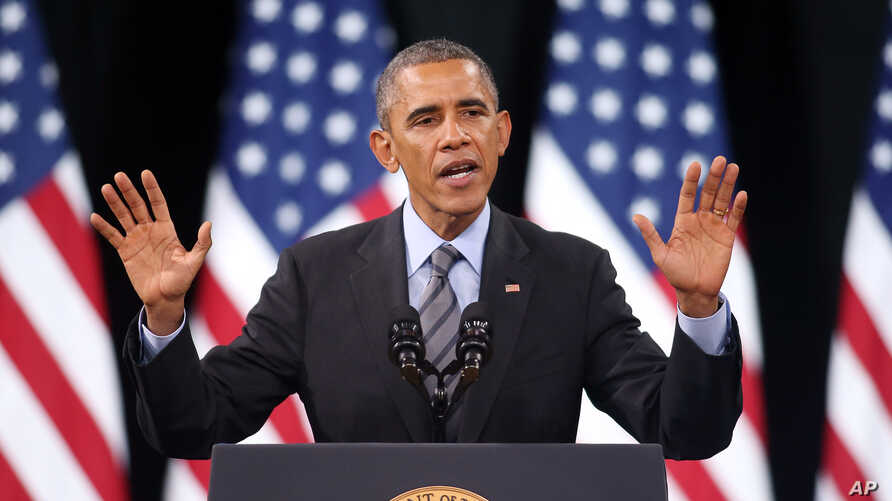 President Barack Obama delivers remarks on his executive action on immigration at Del Sol High School in Las Vegas, Nevada, Nov. 21, 2014.