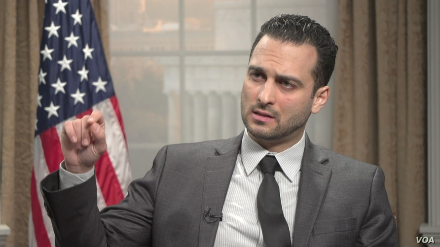 U.S. Deputy Assistant Secretary of State for Counter Threat Finance and Sanctions David Peyman speaks to VOA Persian at the State Department in Washington, March 13, 2019.