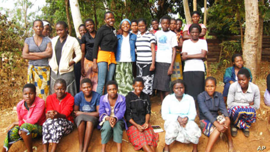 Girls in Malawi's Zomba district who took part in study to protect their health. (2010)