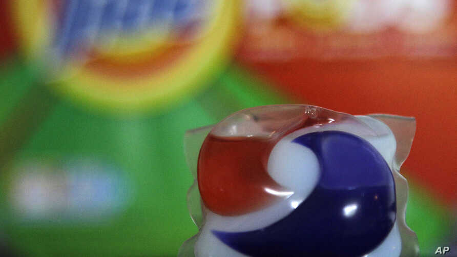FILE - A miniature packet of laundry detergent is seen in a May 24, 2012, photo.