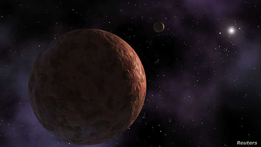 """FILE - A planet-like objec, dubbed """"Sedna"""" is seen in this artist's concept released by NASA, March 26, 2014. A similar dwarf planet, nicknamed """"the Goblin,"""" has been discovered well beyond Pluto."""