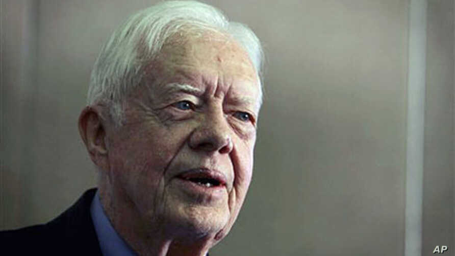 Former President Jimmy Carter speaks at a ceremony at the Carter Center in Atlanta, October 2010. (file photo)