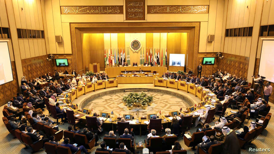 Arab foreign ministers meet during a regular session to discuss latest developments in Middle Eastern affairs, in Cairo, Egypt, Sept. 12, 2017.