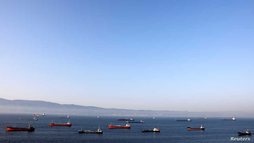 FILE - Oil tankers wait to dock at Tupras refinery near the northwestern Turkish city of Izmit, June 28, 2017. Turkey is a major buyer of Iranian oil.