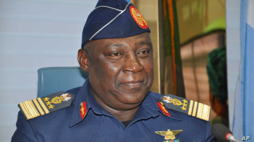 FILE - Nigerian chief of defense Alex S. Badeh, Jan. 20, 2014.
