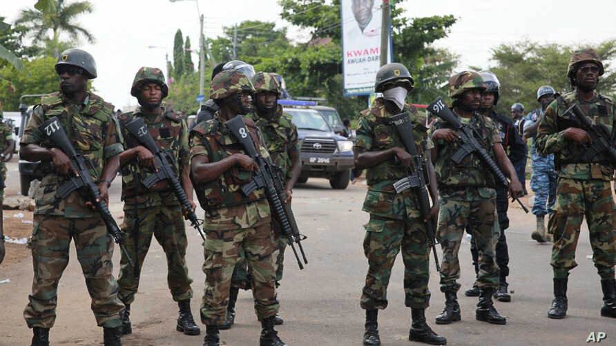 Ghana's military and police maintained order in 2012 elections. The police are now training a special anti-terrorism unit.