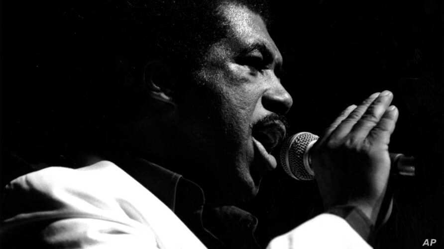 Ben E. King, the American soul singer and former member of The Drifters, is seen performing at the Palladium in London, England, on March 3, 1987.