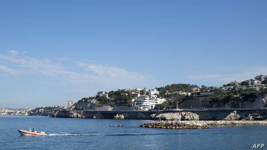 Houses in the Talabot Park of the Roucas Blanc area in Marseille, where French President Emmanuel Macron and his wife Brigitte alledgedly spend a few days of holidays according to a French media.