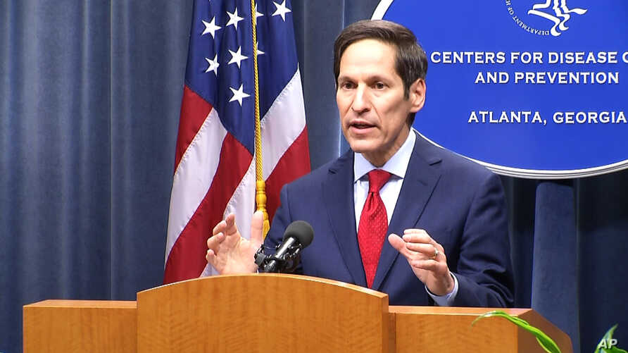 In this image taken from video, Dr. Tom Frieden, director of the U.S. Centers for Disease and Control, holds a media briefing on Tuesday, Sept. 2, 2014.