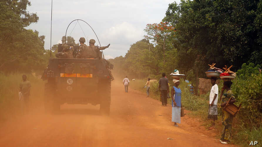 French forces patrol in Sibut, some 200kms (140 miles) northeast of Bangui, Central African Republic, Friday April 11, 2014. The U.N. Security Council voted unanimously Thursday to authorize a nearly 12,000-strong U.N. peacekeeping force for Central