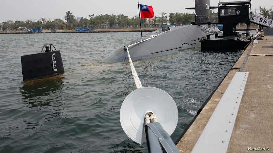 Taiwanese Hai Lung-class submarine (SS-794) is seen at a navy base in Kaohsiung, Taiwan, March 21, 2017.