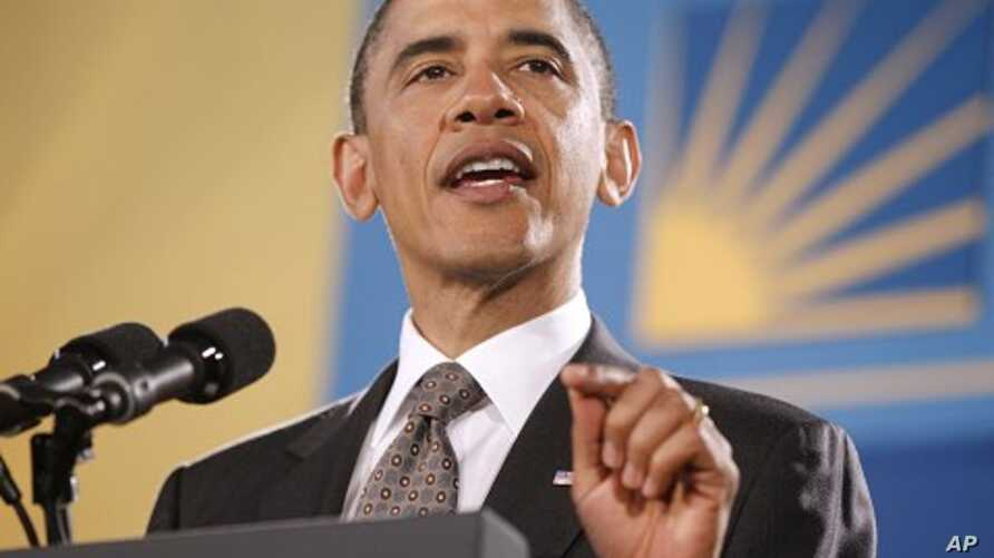 President Barack Obama speaks at the National Hispanic Prayer Breakfast in Washington, May 12, 2011