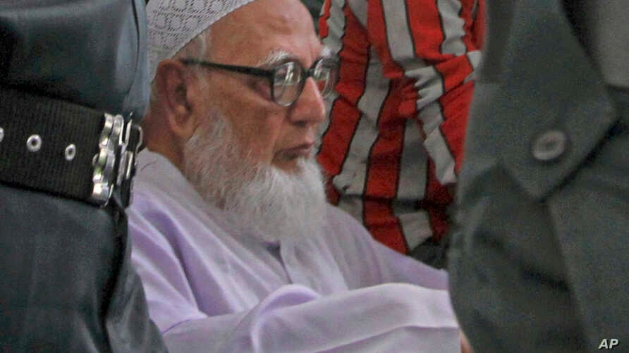 Former chief of Bangladesh's Islamic party Jamaat-e-Islami Ghulam Azam.