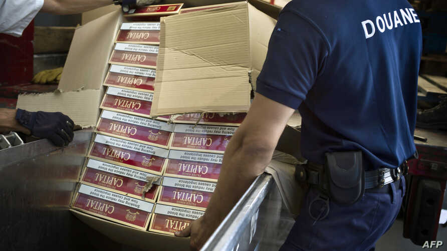 FILE - Seized cigarettes are pictured before being destroyed by French customs July 8, 2010, in Dijon, eastern France.