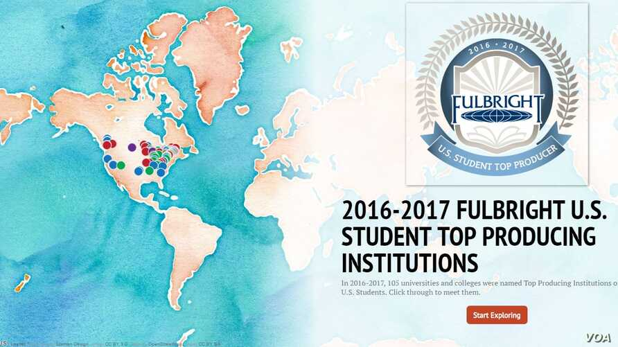 fulbright map