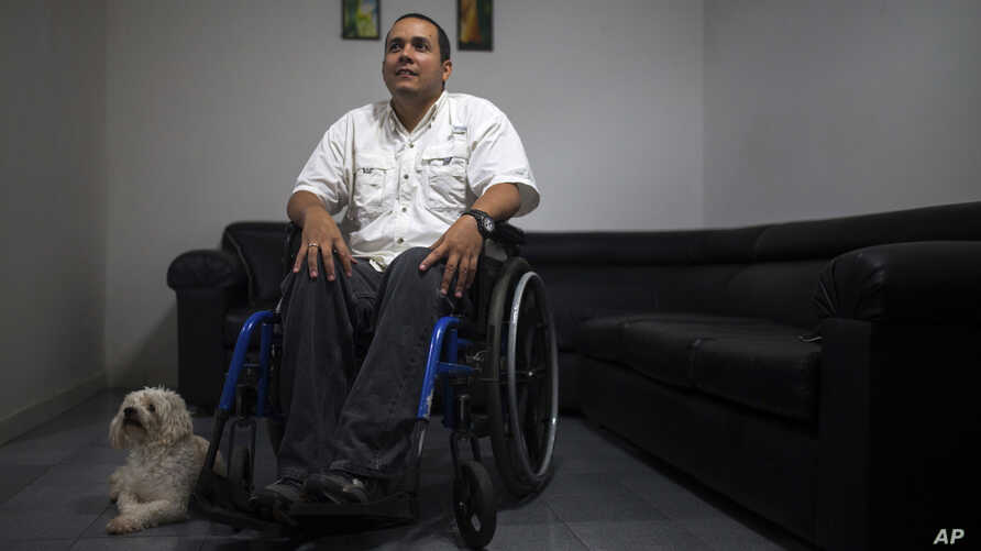 Javier Hernandez, a former employee of a state-run cement factory, is seen during an interview at his home in Guatire, Venezuela, Aug. 3, 2017.