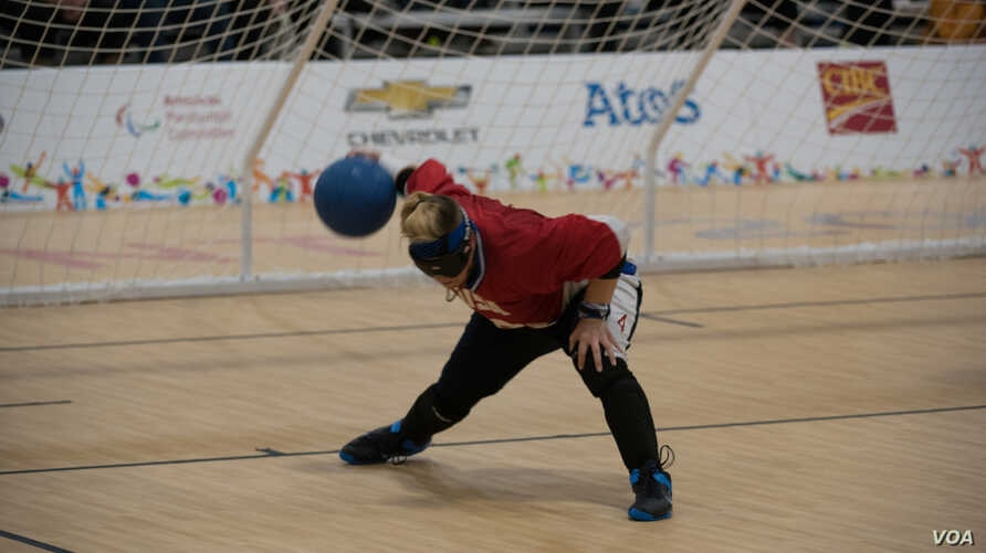 Asya Miller throws for Team USA at the 2015 Parapan Games in Toronto.
