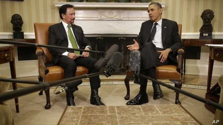 President Obama meets with Brunei's Sultan Hassanal Bolkia