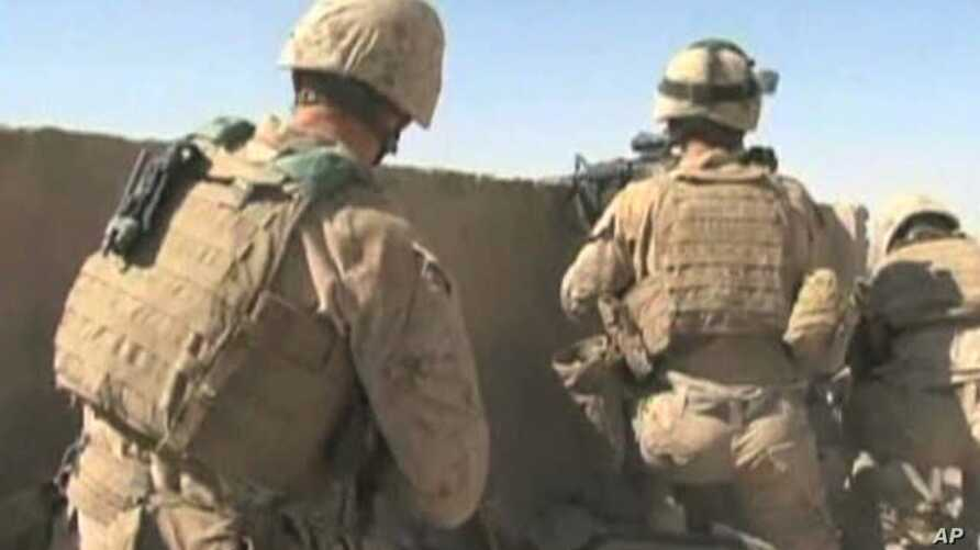 US soldiers hold a position in Afghanistan