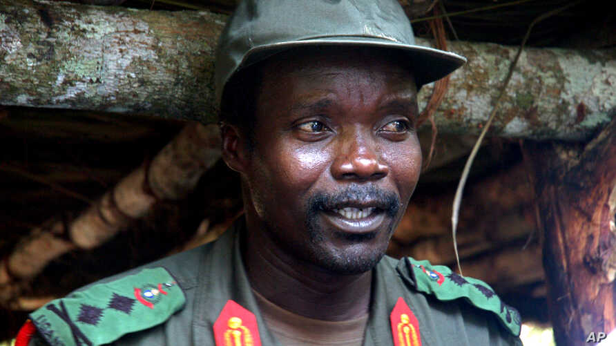 Joseph Kony, leader of the Lord's Resistance Army during a meeting with a delegation of 160 officials and lawmakers from northern Uganda and representatives of non-governmental organizations, July 31, 2006, Congo near the Sudan border.
