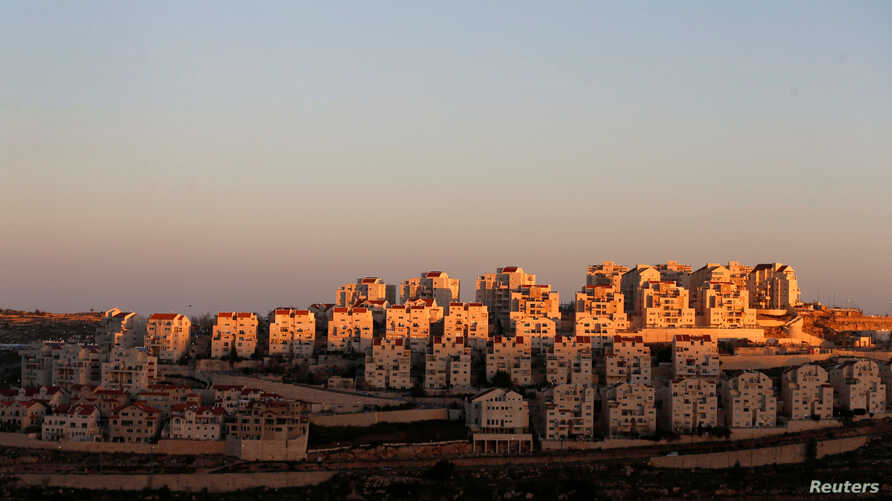 A view of houses that are part of the Israeli settlement of Efrat, in the occupied West Bank, Feb. 7, 2017.