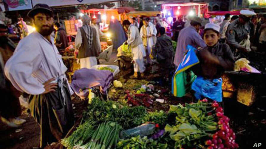 At a market in central Kabul (File Photo)