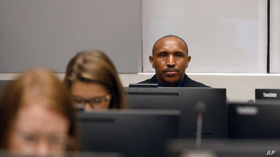 Bosco Ntaganda, a Congo militia leader, sits in the courtroom of the International Criminal Court (ICC) during the closing statements of his trial in The Hague, Netherlands, Aug. 28, 2018.