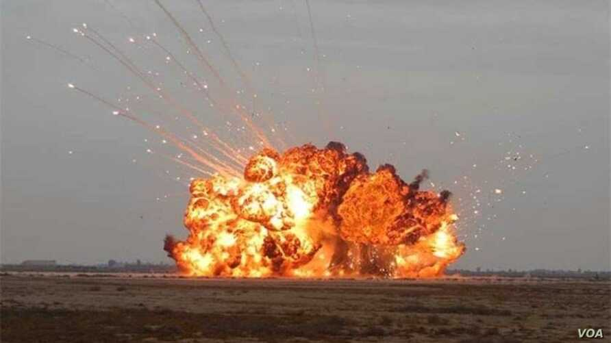 """The Russian """"Father of All Bombs"""" is four times larger than the """"Mother of All Bombs."""" (Russian Government photo)"""