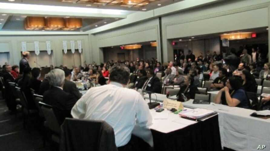 The National Congress of American Indians convenes in Washington, D.C. to meet with legislators and policymakers.