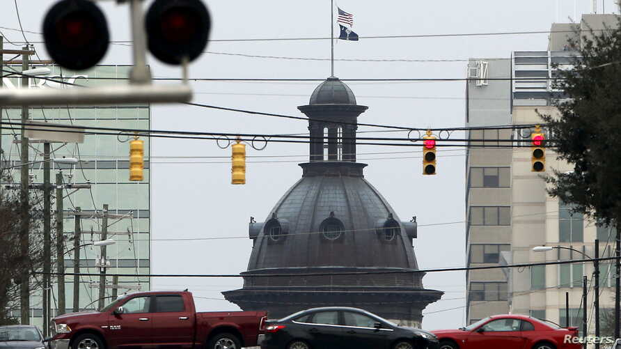 The South Carolina State House dome can be seen in a general view of Main Street in Columbia, South Carolina Feb. 20, 2016.